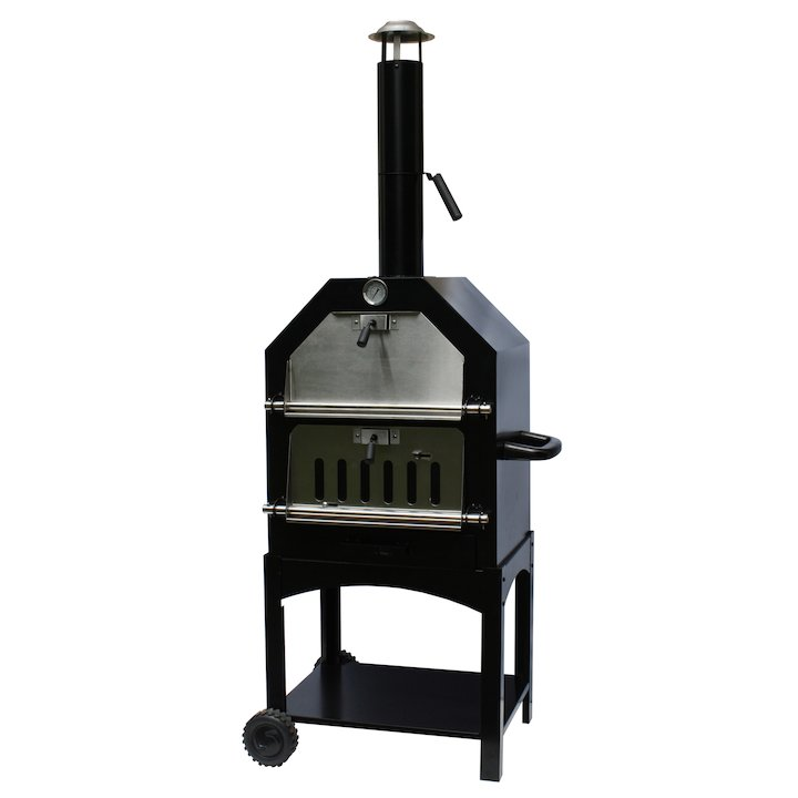 La Hacienda Lorenzo Wood Fired Pizza Oven - Black