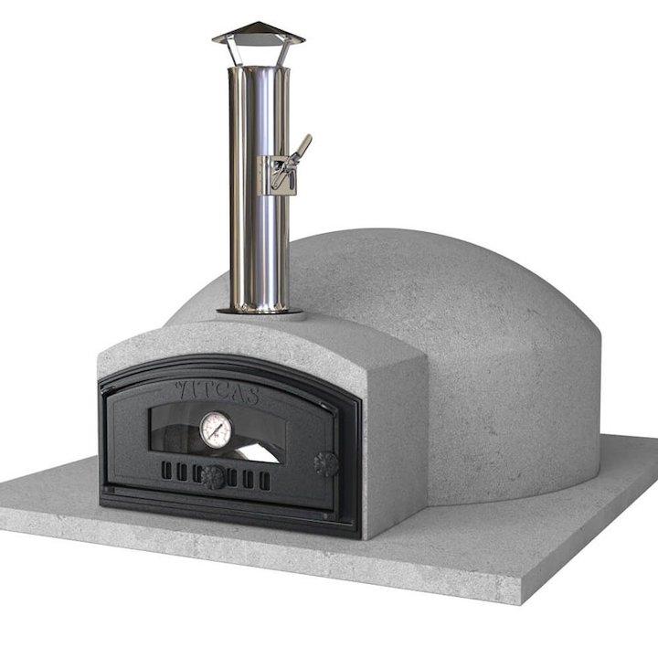 Vitcas Pompeii Outdoor Stone Pizza Oven - Grey