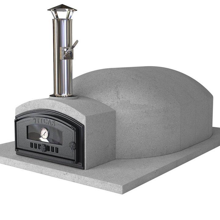 Vitcas Pompeii 120 Outdoor Stone Pizza Oven - Grey