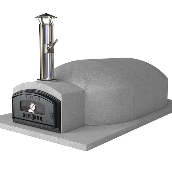Vitcas Pompeii 140 Outdoor Stone Pizza Oven - Grey