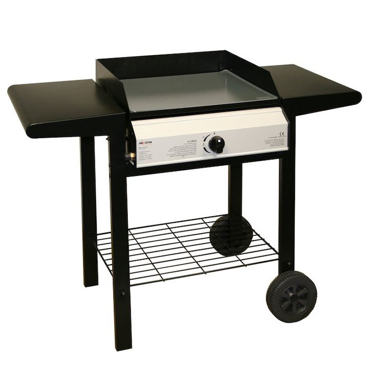 Invicta Bolero Plancher Gas BBQ - With Trolley - Black