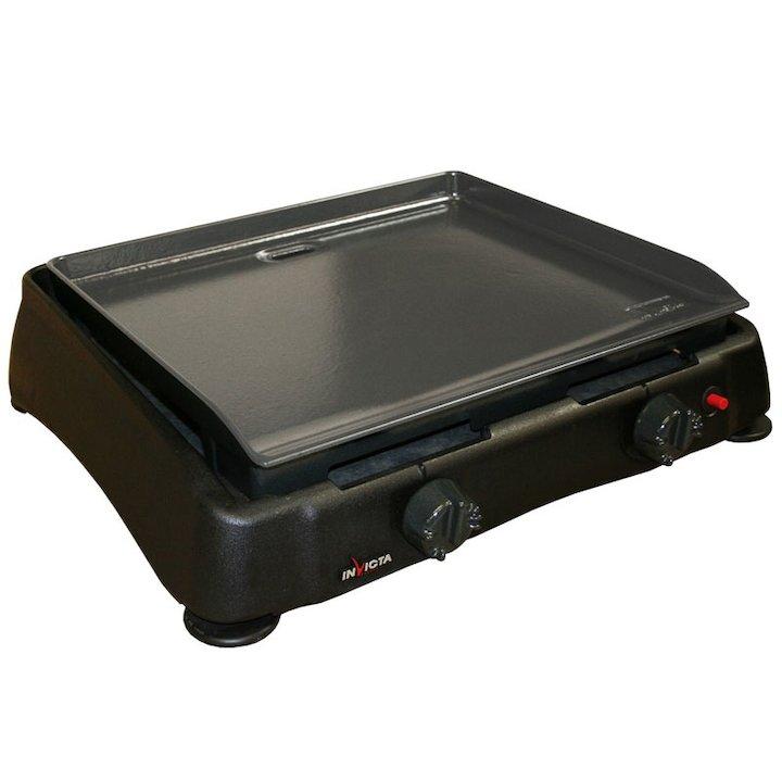 Invicta Ibiza Tabletop Plancher Gas BBQ - Black