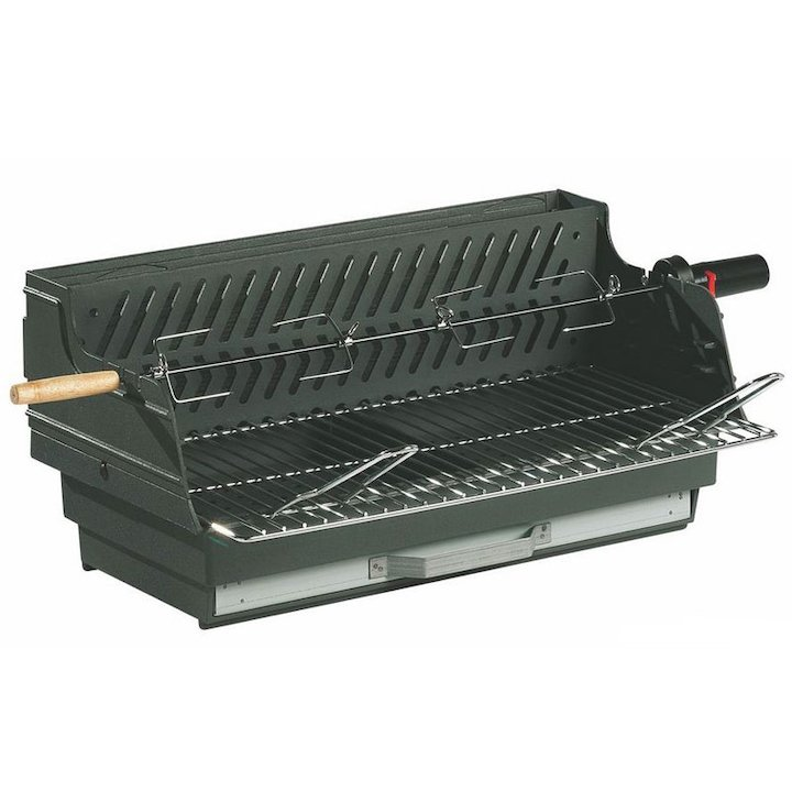 Invicta Louqsor Cast-Iron Built-In Charcoal BBQ - Black