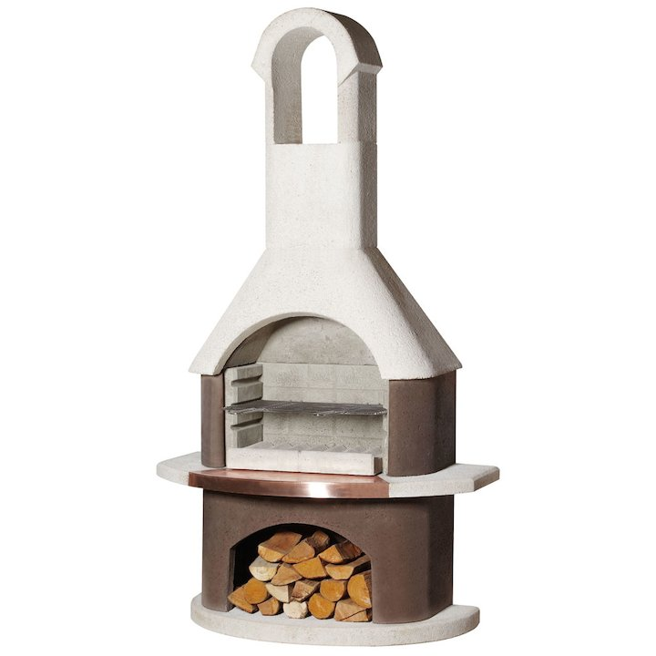 Buschbeck St Mortiz Masonry Charcoal BBQ - Brown