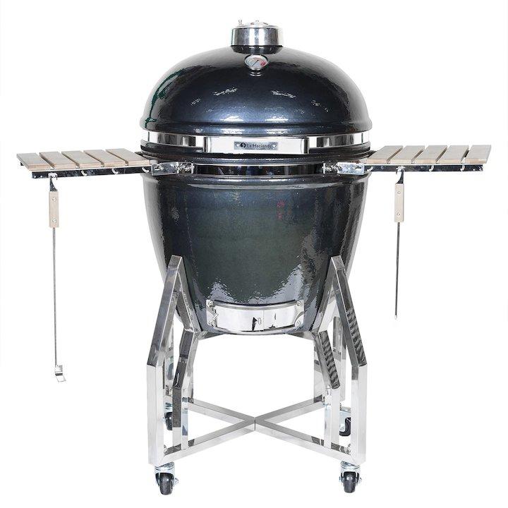 La Hacienda Kamado XL Ceramic BBQ Oven - With Stand - Gun Metal