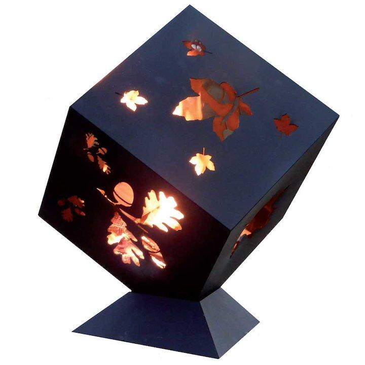 Burley Leaf Firecube Outdoor Firepit - Black