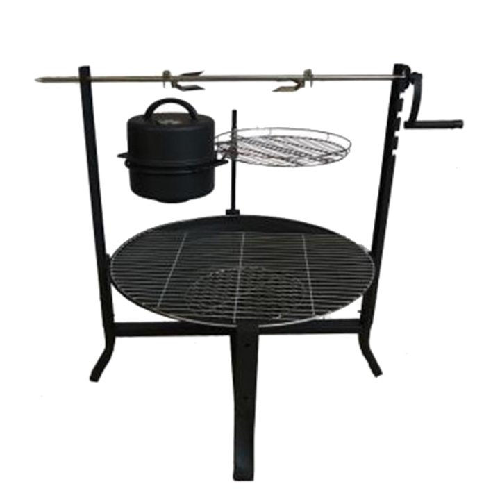 Gardeco Buffalo Outdoor Cooking Firepit - Black