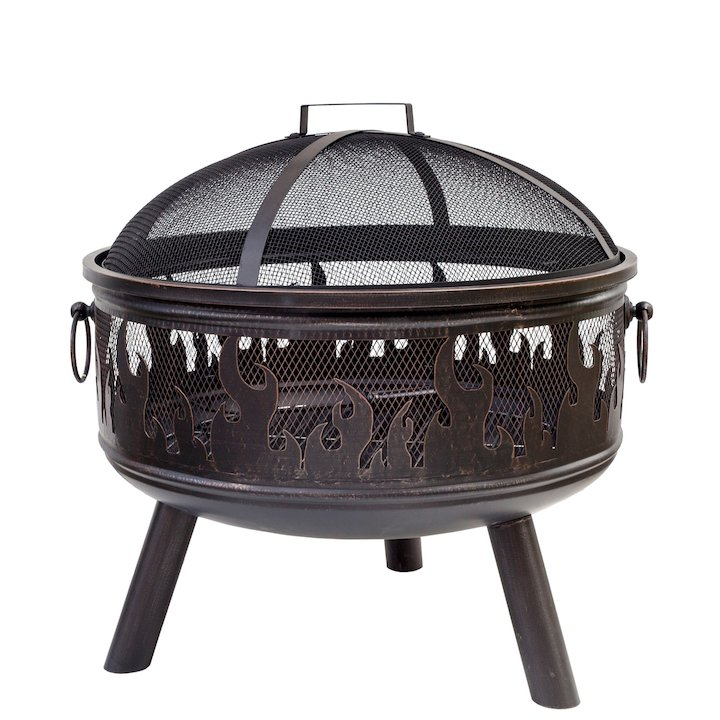 La Hacienda Wildfire Outdoor Firepit - Bronze