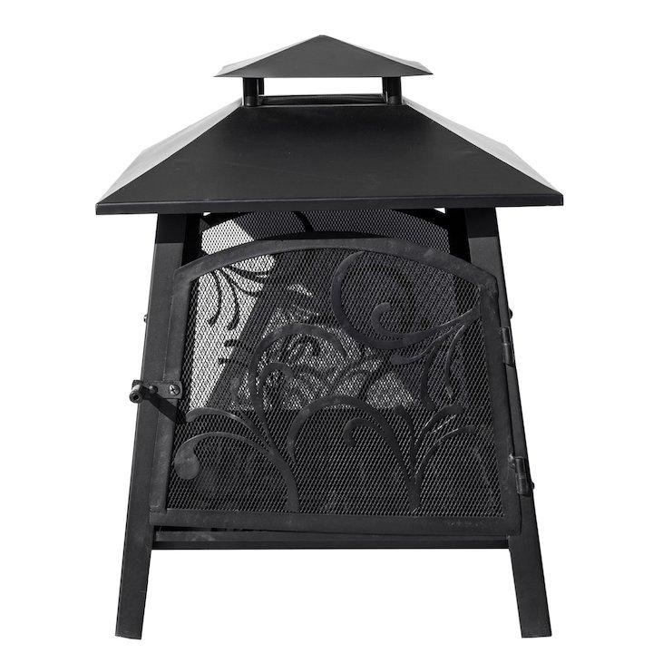 La Hacienda Sakura Outdoor Firepit - Black