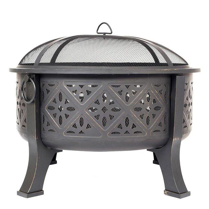 La Hacienda Moresque Outdoor Firepit - Bronze