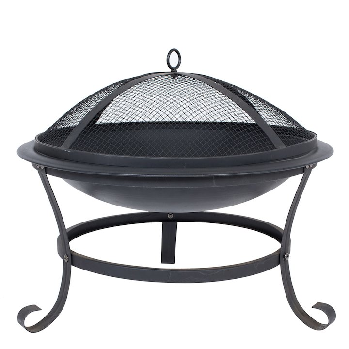 La Hacienda Albion Outdoor Firepit - Black