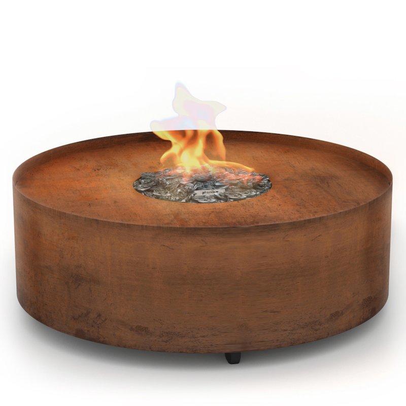 Planika Galio Circular Outdoor Gas Firepit - Corten Steel