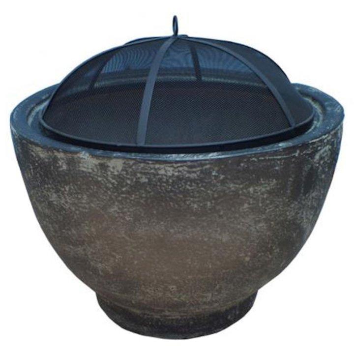 Gardeco Brasilia Clay Firebowl - Granite Effect