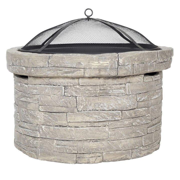 La Hacienda Windemere Magnesia Stone Effect Firepit - Grey