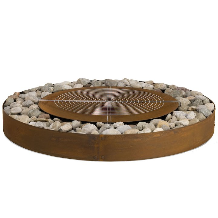 AK47 Zen Outdoor Large Firepit - Corten Steel