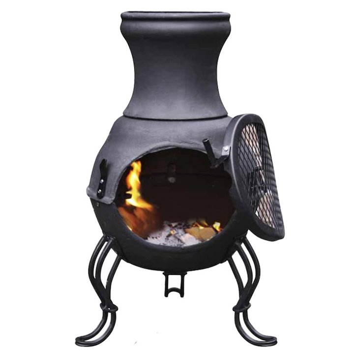 Gardeco Billie Cast-Iron Chiminea - Black