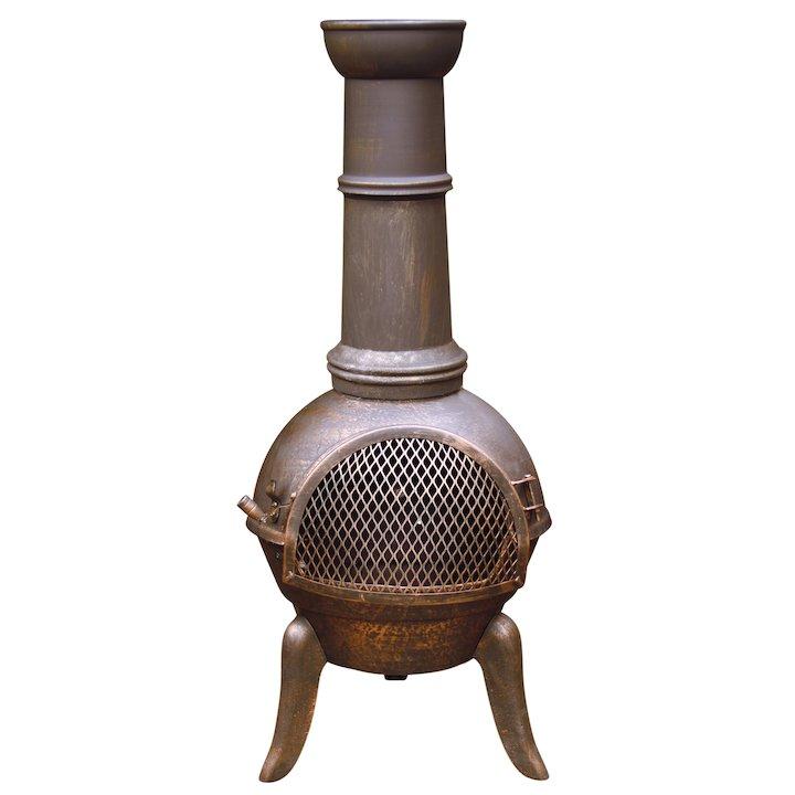 Gardeco Granada 112 Cast-Iron Chiminea - Bronze