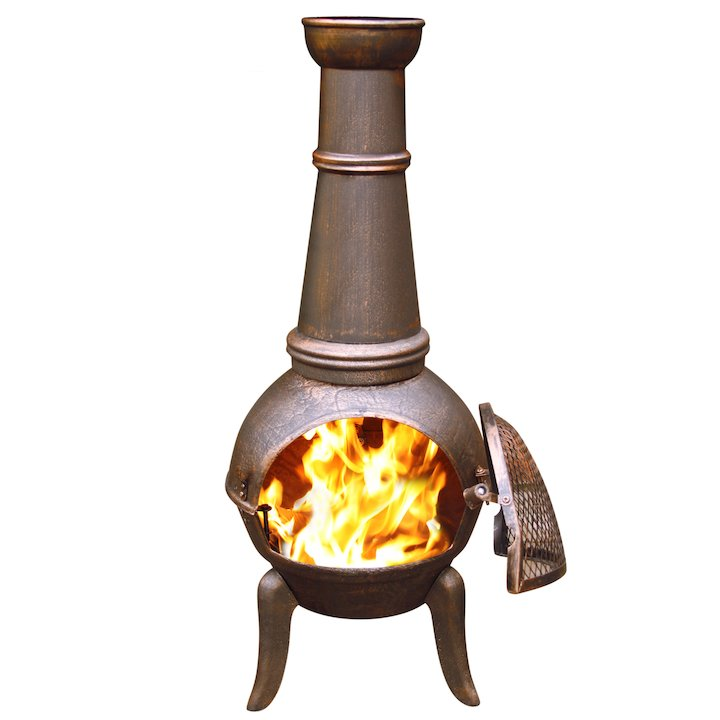 Gardeco Granada 124 Cast-Iron Chiminea - Bronze