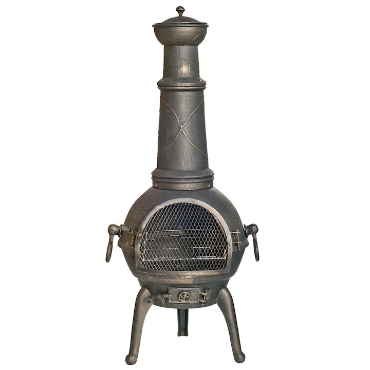 La Hacienda Sierra XL Cast-Iron Chiminea - Bronze