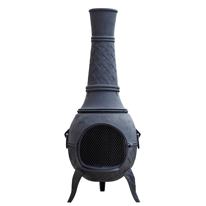La Hacienda Mega Cast-Iron Chiminea - Bronze