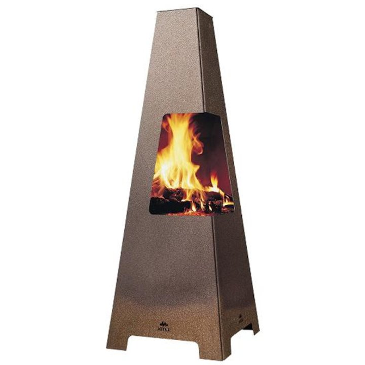 Jotul Terrazza XL Outdoor Modern Chiminea - Corten Steel