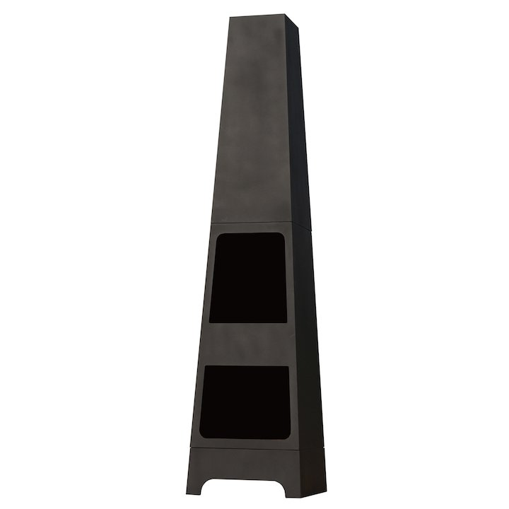 La Hacienda Malmo Outdoor Modern Chiminea - Black
