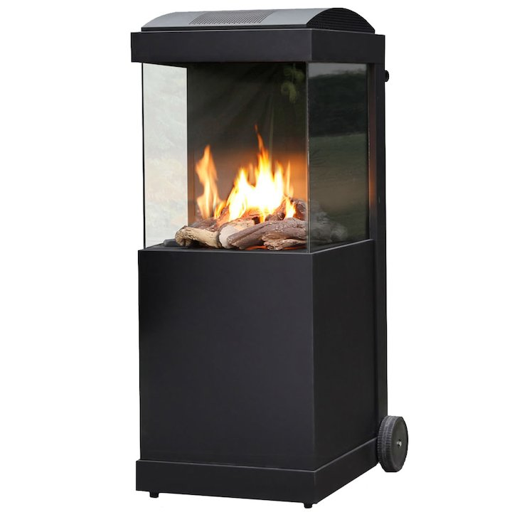 Faber Buzz Outdoor Patio Gas Fire - Black