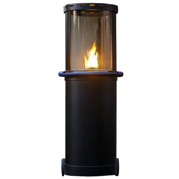 Faber Tube Outdoor Patio Gas Fire - Black