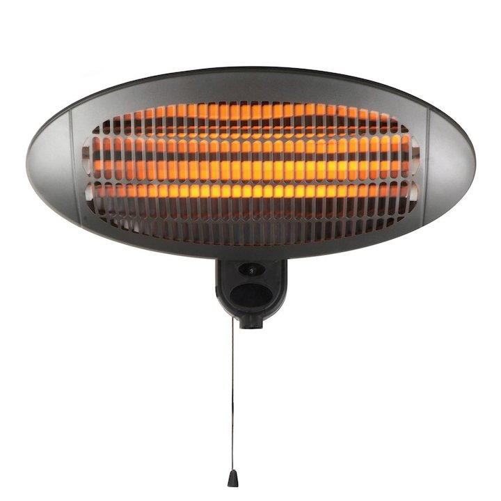 Gardeco Lectro 2000W Wall Mounted Electric Patio Heater - Black