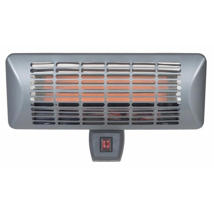 La Hacienda Grey Wall Mounted Quartz 2000W Electric Patio Heater - Grey