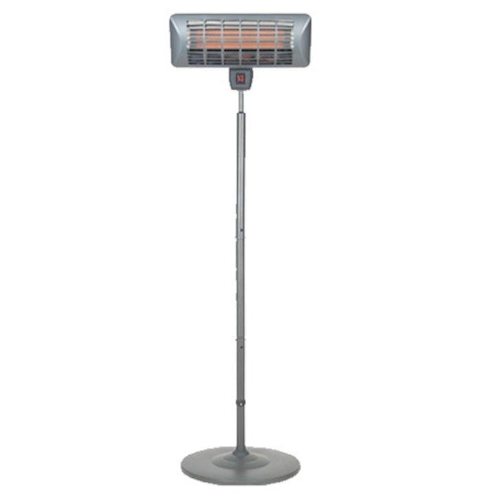 La Hacienda Grey Freestanding Quartz 2000W Electric Patio Heater - Grey
