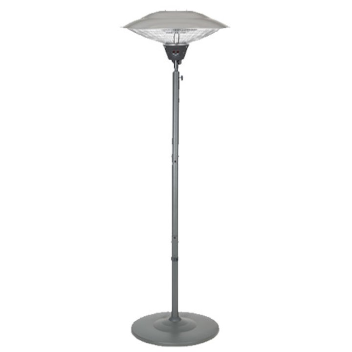La Hacienda Grey Freestanding Carbon Fibre 1500W Electric Patio Heater - Grey