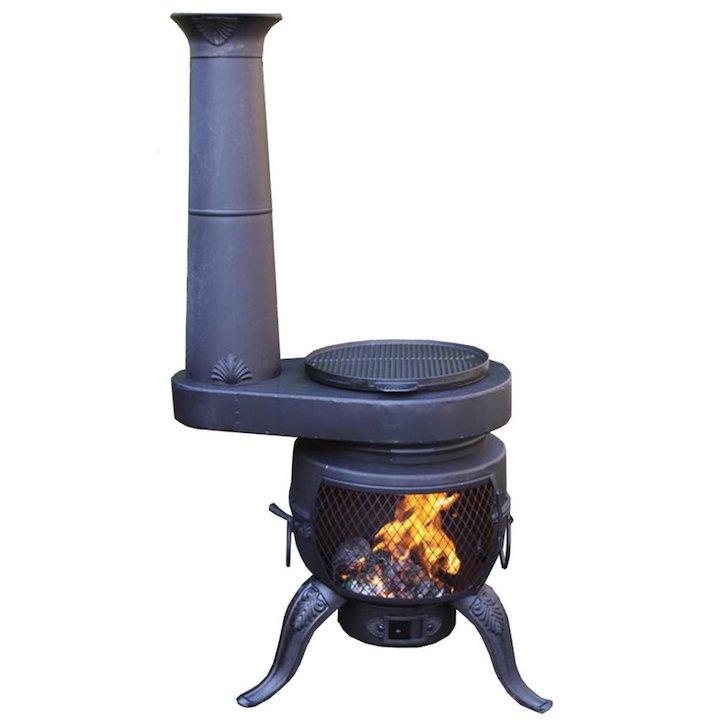 Gardeco Tia Chim-Stove Outdoor Wood Stove - Black