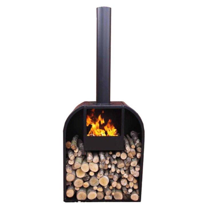 Gardeco Arno XL Outdoor Wood Stove - Black