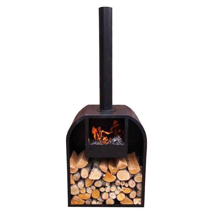Gardeco Arno Medium Outdoor Wood Stove - Black