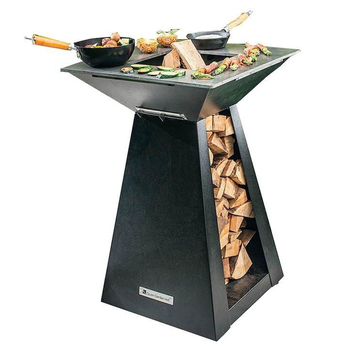 Quan Quadro Basic Small Plancha Firepit Table - Black
