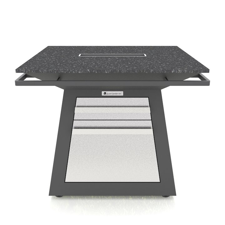 Quan Pro Table - With Ice Maker - Black