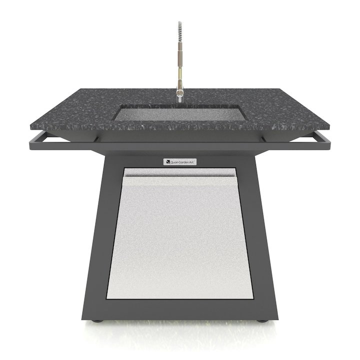 Quan Pro Table - With Sink - Black