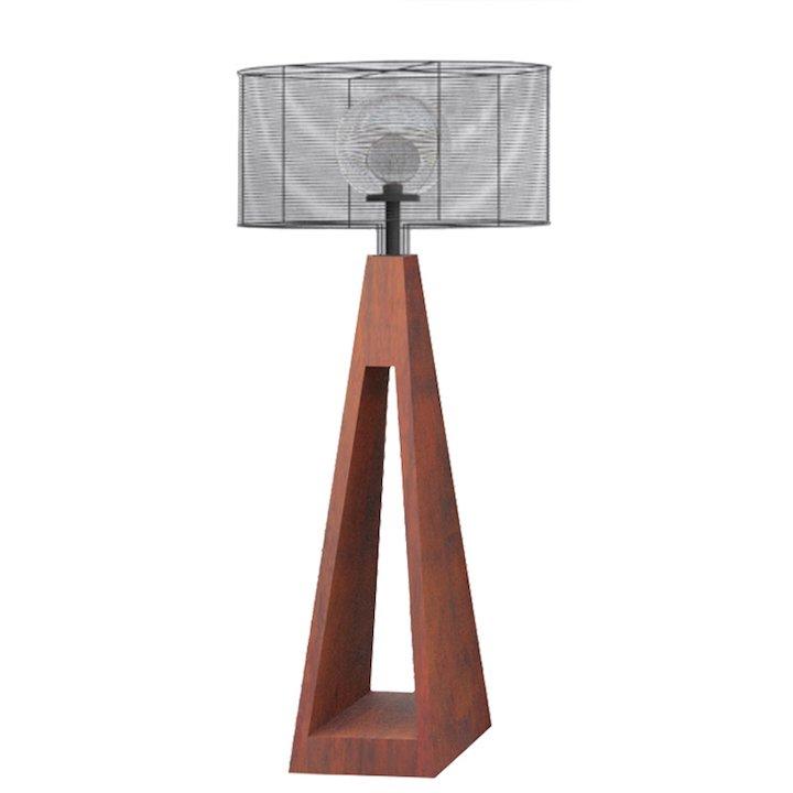 Quan Outdoor LED Lights - Corten Steel