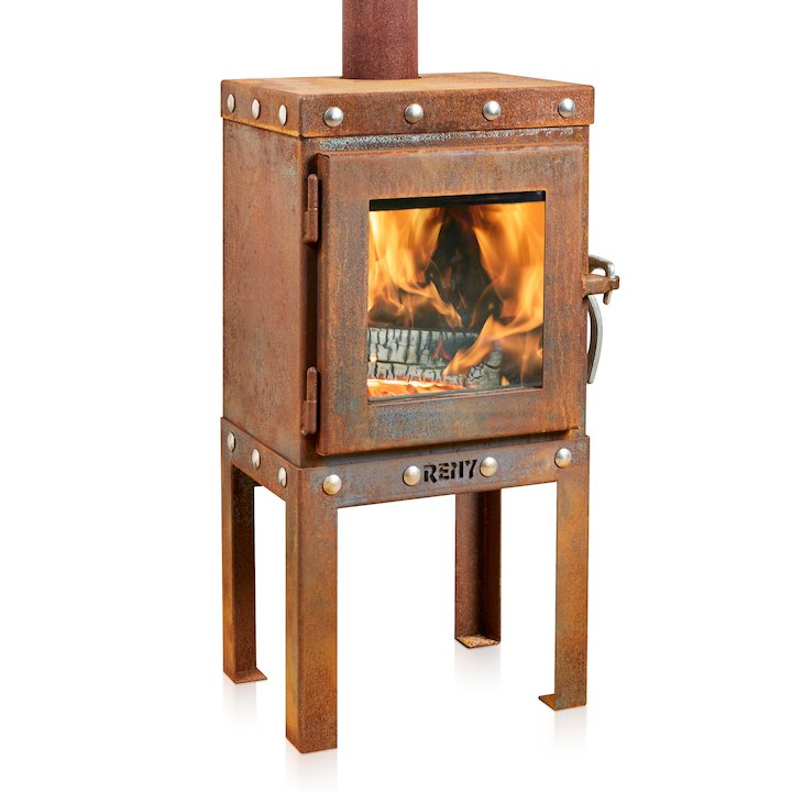 RB73 Piquia 4 Outdoor Wood Stove - Corten Steel