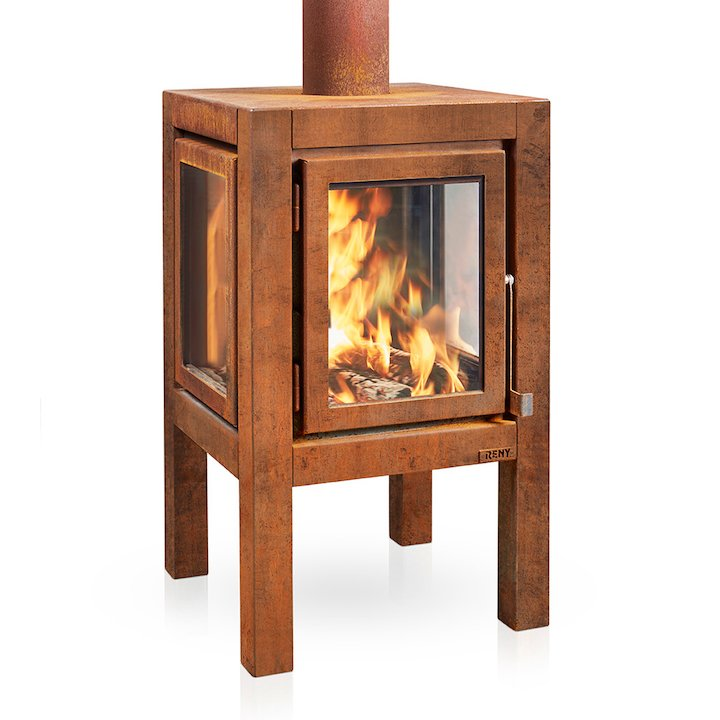 RB73 Quaruba XL Outdoor Wood Stove - Corten Steel