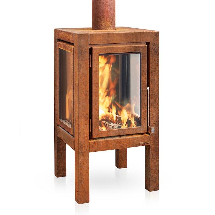RB73 Quaruba XXL Outdoor Wood Stove - Corten Steel