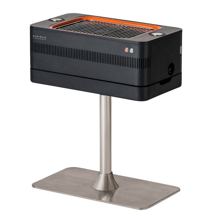 Everdure Fusion Electric Ignition Charcoal BBQ - Black