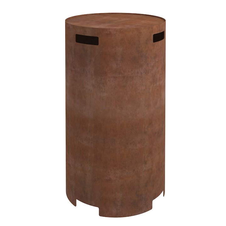 Planika Galio Gas Bottle Cover - Corten Steel