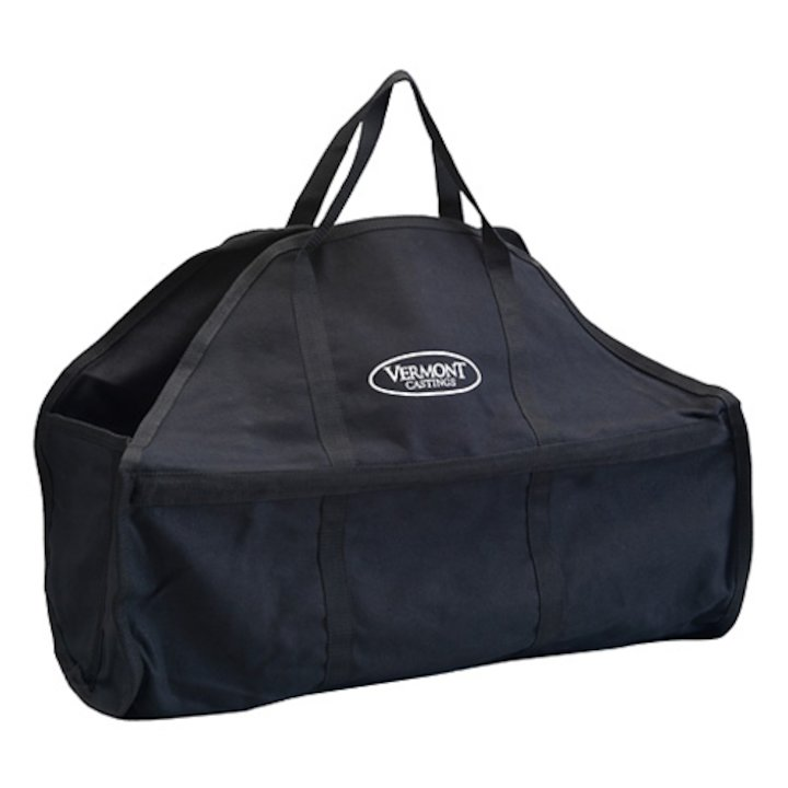 Vermont VC20 Canvas Wood Bag Log Carrier - With Zip - Black