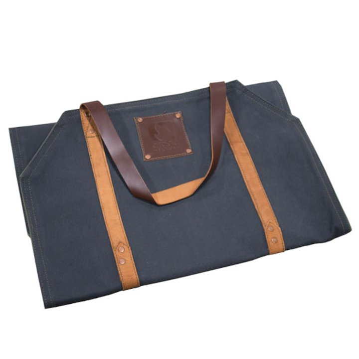 Arada Wood Sling Canvas Log Carrier - Navy Blue