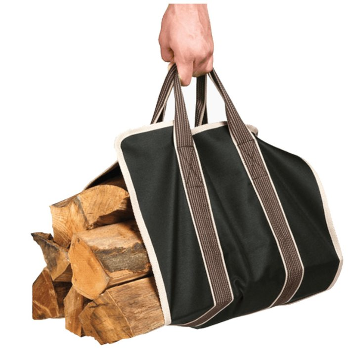 Stovax Wood Sling Canvas Log Carrier - Thyme