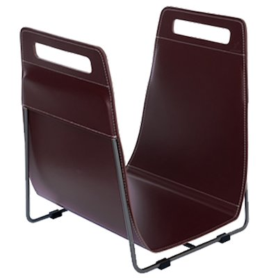 Ferrari Opus Focus Corrium Log Carrier - With Stand Brown Grey Iron Stand