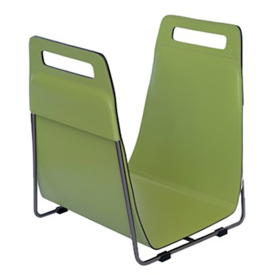 Ferrari Opus Focus Corrium Log Carrier - With Stand Green Grey Iron Stand