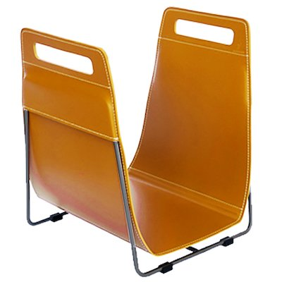 Ferrari Opus Focus Corrium Log Carrier - With Stand Orange Grey Iron Stand